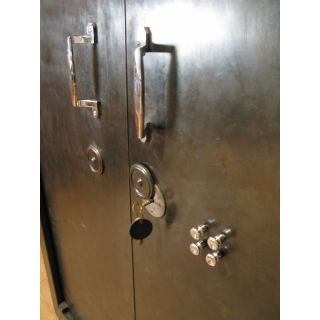 Antique French Steel Safe Cabinet For Sale In New York - Image 6 of 8