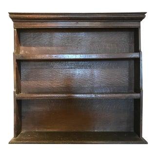 18th Century Oak Dish Shelf For Sale