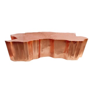 Covet Paris Eden Copper Leaf Cocktail Table For Sale