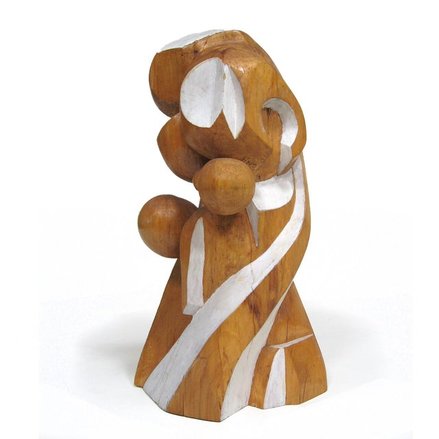 Abstract wood sculpture by Arthur Rossfield - Image 2 of 11
