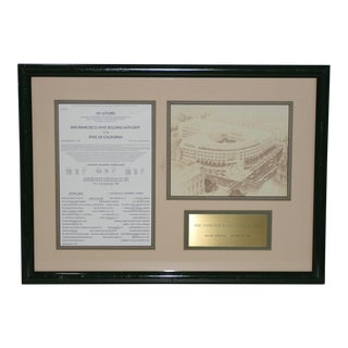 San Francisco State Office Building Groundbreaking Brass Plaque C.1983 For Sale