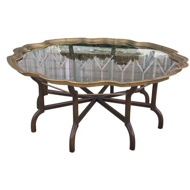Hollywood Regency Brass Coffee Table
