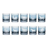 Image of ARTEL Staro Barnyard Collection Double Old Fashioned Glasses in Slate - Set of 10 For Sale