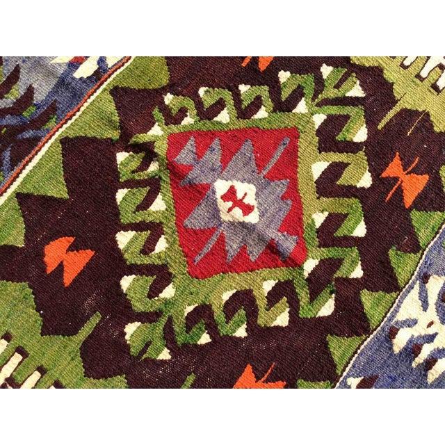 Vintage Turkish Kilim Rug For Sale In Raleigh - Image 6 of 8