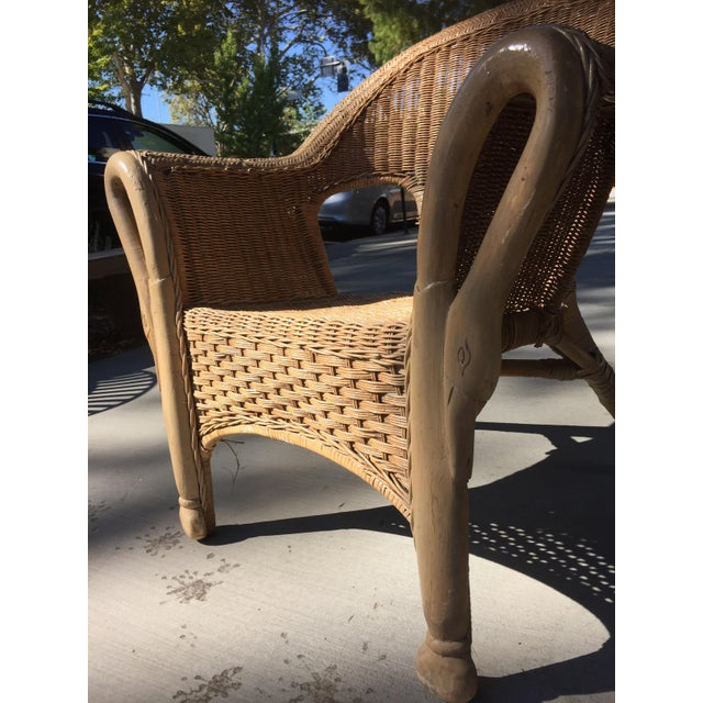 Vintage 1940s Wicker Carved Swan Chairs - A Pair - Image 7 of 9
