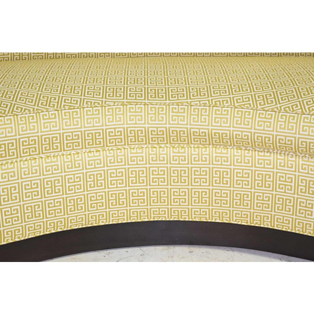 Custom Kidney Shaped Sofa With Kravet Fabric For Sale - Image 9 of 12
