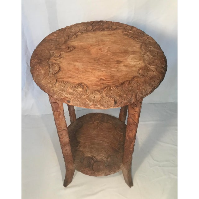 1960s African Carved Monkey Side Table For Sale - Image 5 of 11
