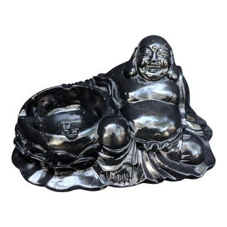 Vintage Buddha Chalkware Ashtray For Sale