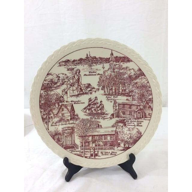 Vernon Kilns Vintage Salem, Massachusetts Souvenir Plate For Sale - Image 4 of 4