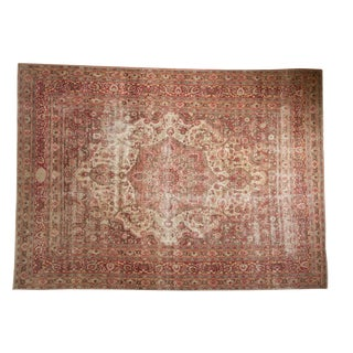 "Vintage Distressed Meshed Carpet - 8'5"" X 11'7"""