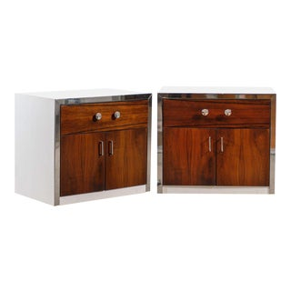 Handsome Pair of Modern End Table/Night Stands by John Stuart For Sale