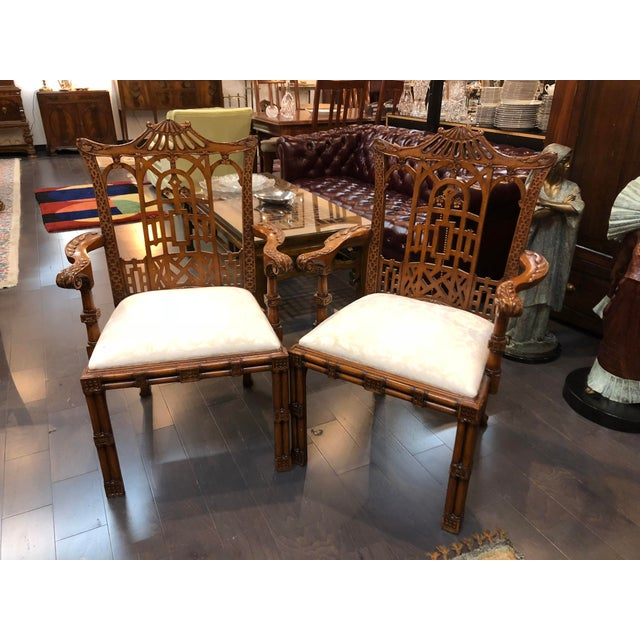 Thomasville 20th Century Asian Ardley Hall Dining Chairs - a Pair For Sale - Image 4 of 5