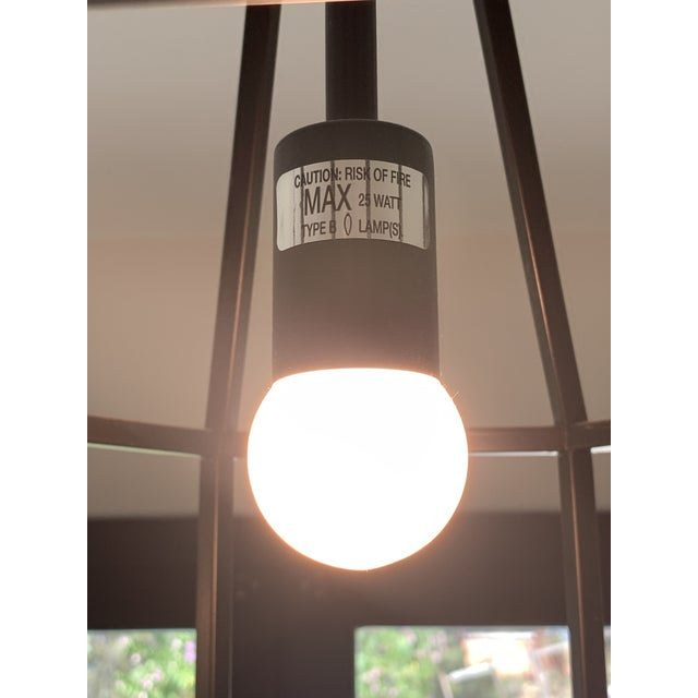 Black Contemporary Black Teardrop-Shape Lanterns - a Pair For Sale - Image 8 of 9