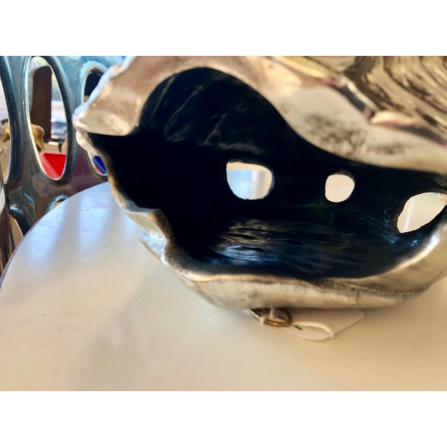 Modern Contemporary Silver Faux Tortoise Shell For Sale In Charleston - Image 6 of 8