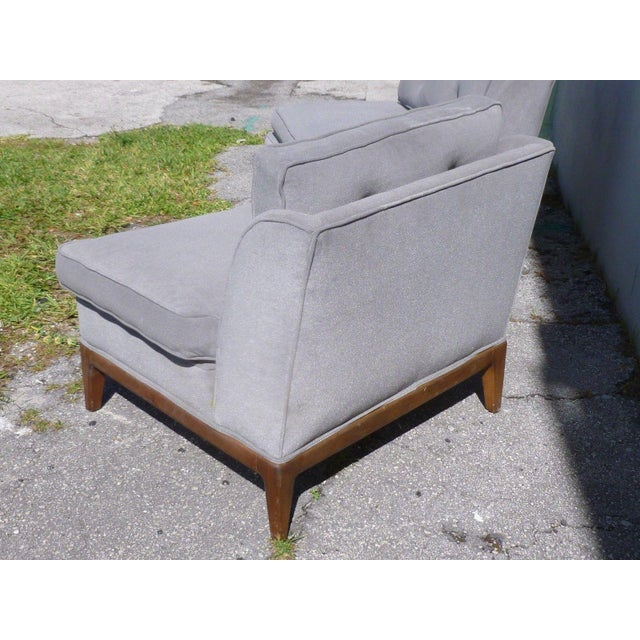 1950s 1950s Mid-Century Modern Edward Wormley Low Back Slipper Chairs - a Pair For Sale - Image 5 of 8