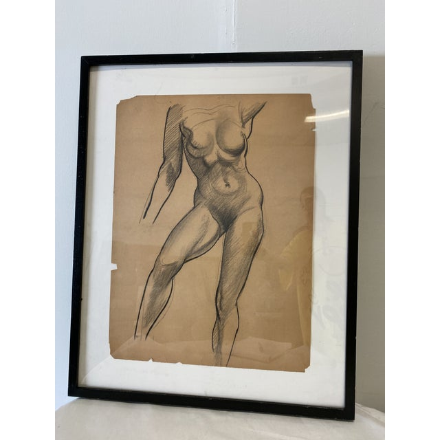 Paper Female Nude Figurative Drawing For Sale - Image 7 of 7
