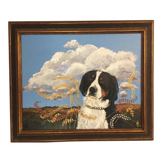 Original Bernese Mountain Dog Painting ByJudy Henn For Sale