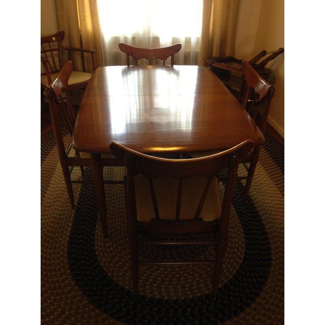 This is a handcrafted American Ash Dining Set made by Unique Furniture Makers in North Carolina circa 1962. The set...