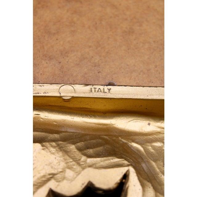 1960s Italian Gold Feather Rays Sunburst Mirror For Sale - Image 9 of 10