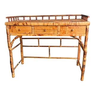 Vintage Split Bamboo Writing Desk For Sale
