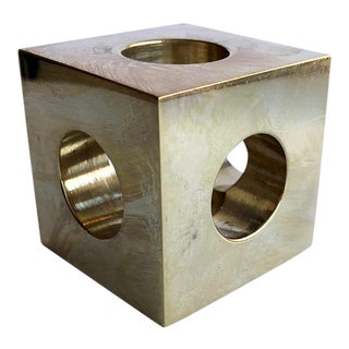 Menu Cube Brass Candle Holder