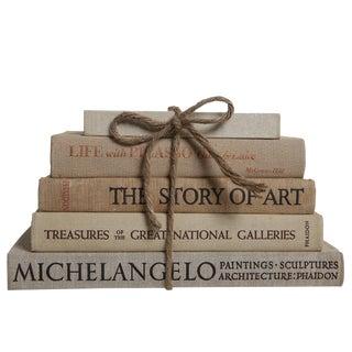 Vintage Book Gift Set: Linen Art Selections - Set of 5