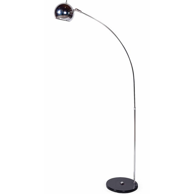 This is gorgeous example of a Robert Sonneman Arc Floor Lamp. The chrome is in excellent vintage condition and has been...