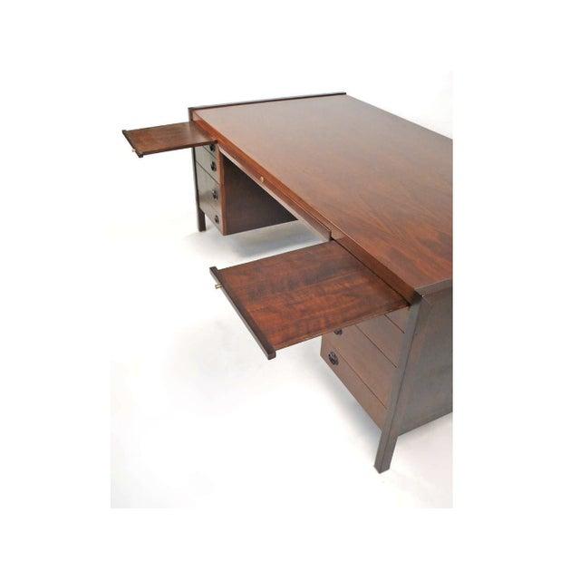 Dunbar Furniture Edward Wormley for Dunbar Executive Desk For Sale - Image 4 of 5