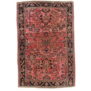 "RugsinDallas Antique Persian Sarouk Rug - 3'4"" X 5'1"" For Sale"