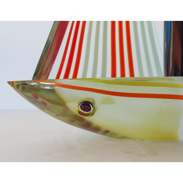 Blue Sailboat Sculpture by Alberto Dona' For Sale - Image 8 of 9