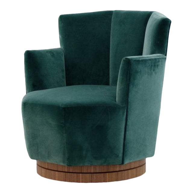 Quinaquina Green Swivel Chair For Sale