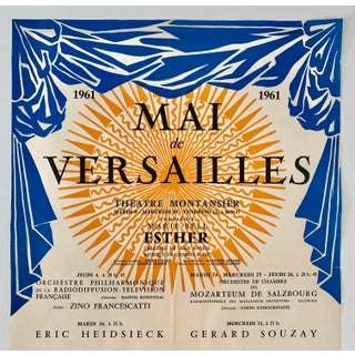 1961 French Mai De Versailles Concert Poster Preview