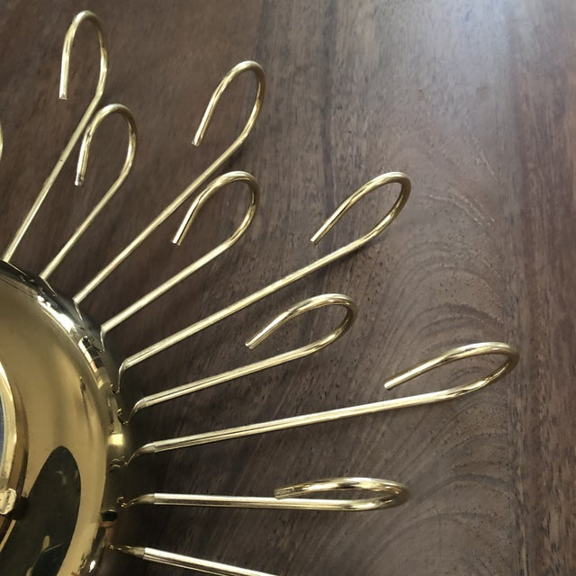 Vintage 1950s Mid Century Modern Wind Up Wall Clock For Sale - Image 4 of 9