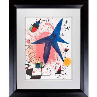 1972 Joan Miro Original Lithograph For Sale
