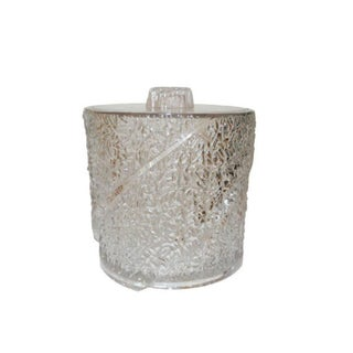 Vintage Textured Lucite Ice Bucket For Sale