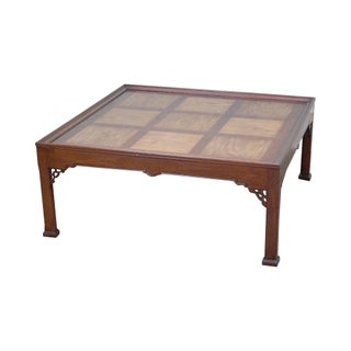 Chippendale Style Mahogany & Mixed Wood Square Coffee Table