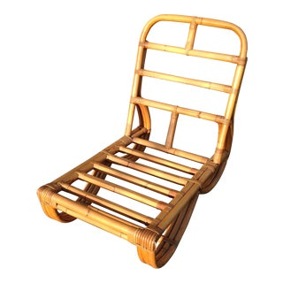 Paul Frankl Rattan Lounge Chair For Sale