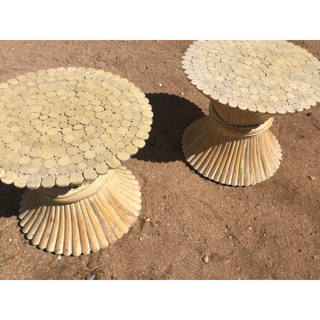 White 1980s Moorish Cane Side Tables - a Pair For Sale - Image 8 of 9
