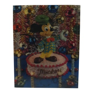 "Vintage, Walt Disney Productions, Lenticular Print, ""Mickey Mouse"", Circa 1965 For Sale"