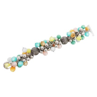 1960s Napier Pastel Moonglow Beaded Bracelet For Sale