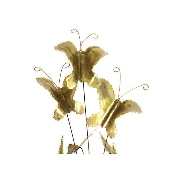 Mid-Century Gilded Butterfly Kinetic Sculpture - Image 2 of 3