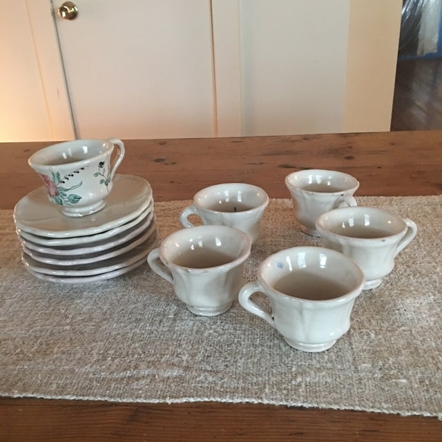 Antique Deruta Italy Pottery Dinnerware Set - 34 Pieces For Sale - Image 10 of 13