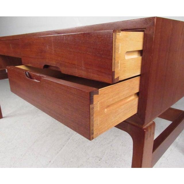 Mid-Century Modern Teak Double-Sided Desk For Sale - Image 10 of 11