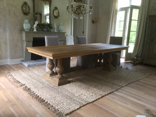 Exceptionnel Early 19th Century Replica Dining Table Featuring Dentil Apron Detail And  Hand Turned Balusters. Handcrafted. Contemporary Restoration Hardware ...
