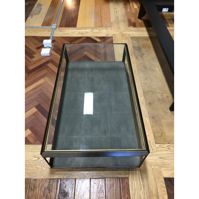 2010s New Four Hands Bentley Shagreen Shadow Box Coffee Table For Sale - Image 5 of 11