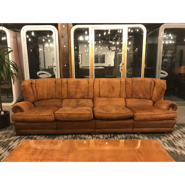 Large Leather Sofa For Sale - Image 11 of 11