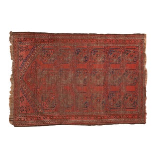 "Antique Beshir Square Rug - 3' X 4'2"" For Sale"