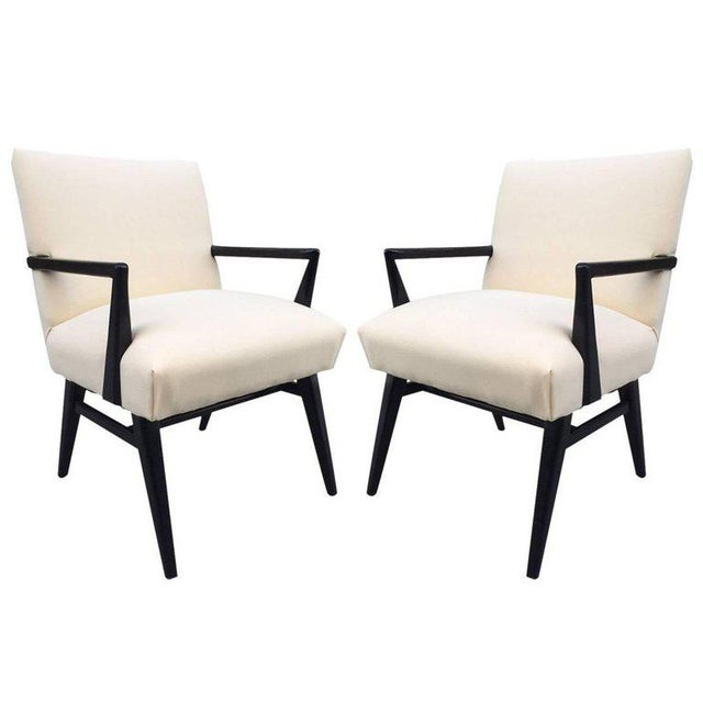 1960s Pair of Jens Risom Armchairs For Sale - Image 5 of 5