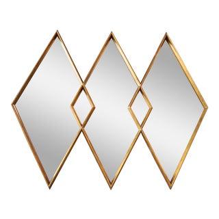 1960s Interlocking Diamond Giltwood Mirror by Labarge For Sale