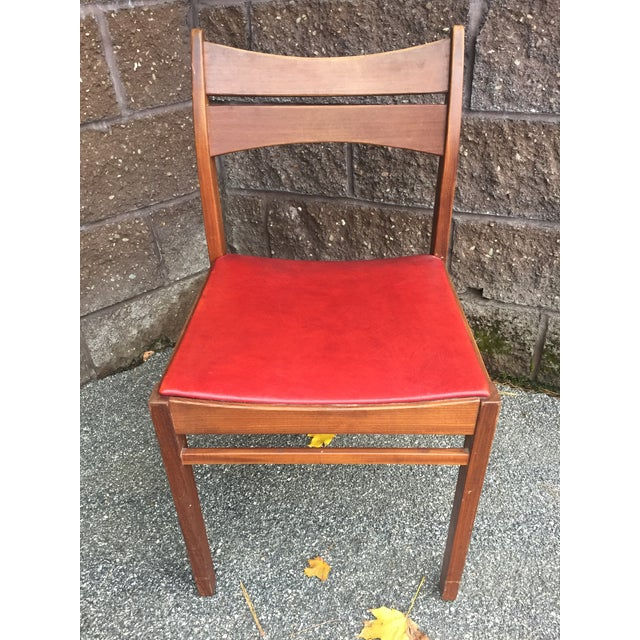 Mid-Century Modern Vintage Mid-Century Danish Teak Dining Chairs- Set of 8 For Sale - Image 3 of 9